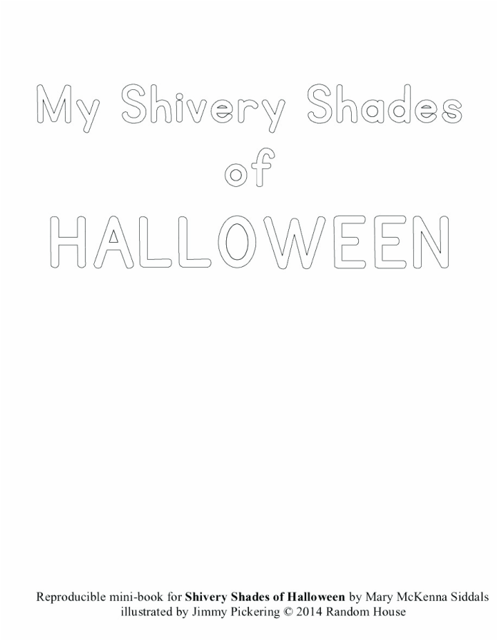 MY SHIVERY SHADES OF HALLOWEEN mini-book