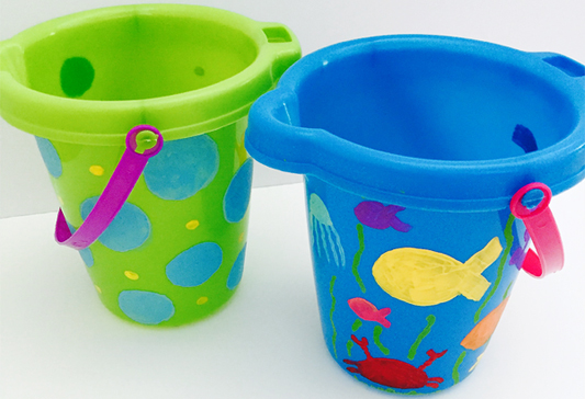 Personalized Painted Pail